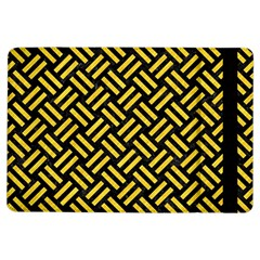 Woven2 Black Marble & Yellow Colored Pencil (r) Ipad Air Flip by trendistuff