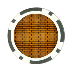 Brick1 Black Marble & Yellow Grunge Poker Chip Card Guard by trendistuff