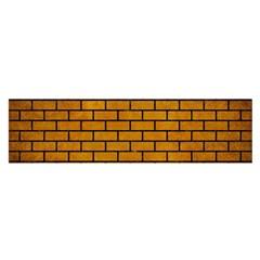 Brick1 Black Marble & Yellow Grunge Satin Scarf (oblong) by trendistuff