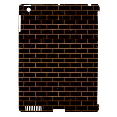 Brick1 Black Marble & Yellow Grunge (r) Apple Ipad 3/4 Hardshell Case (compatible With Smart Cover) by trendistuff