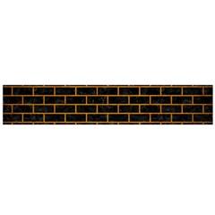 Brick1 Black Marble & Yellow Grunge (r) Large Flano Scarf