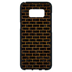 Brick1 Black Marble & Yellow Grunge (r) Samsung Galaxy S8 Black Seamless Case by trendistuff