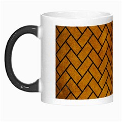 Brick2 Black Marble & Yellow Grunge Morph Mugs by trendistuff