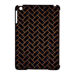 Brick2 Black Marble & Yellow Grunge (r) Apple Ipad Mini Hardshell Case (compatible With Smart Cover) by trendistuff