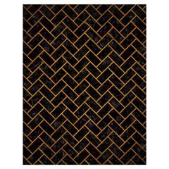 Brick2 Black Marble & Yellow Grunge (r) Drawstring Bag (large) by trendistuff