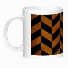 Chevron1 Black Marble & Yellow Grunge Night Luminous Mugs by trendistuff