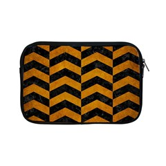Chevron2 Black Marble & Yellow Grunge Apple Ipad Mini Zipper Cases by trendistuff