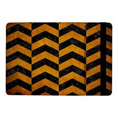 Chevron2 Black Marble & Yellow Grunge Samsung Galaxy Tab Pro 10 1  Flip Case by trendistuff