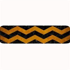 Chevron3 Black Marble & Yellow Grunge Large Bar Mats by trendistuff