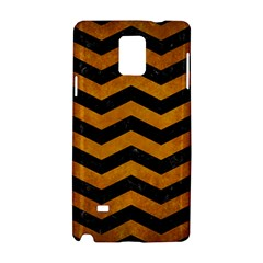 Chevron3 Black Marble & Yellow Grunge Samsung Galaxy Note 4 Hardshell Case