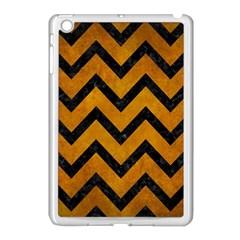 Chevron9 Black Marble & Yellow Grunge Apple Ipad Mini Case (white) by trendistuff