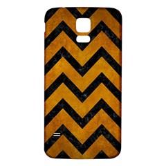 Chevron9 Black Marble & Yellow Grunge Samsung Galaxy S5 Back Case (white)