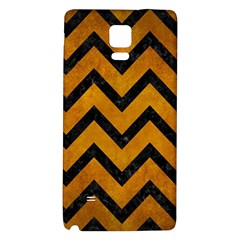 Chevron9 Black Marble & Yellow Grunge Galaxy Note 4 Back Case by trendistuff