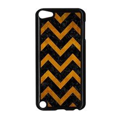 Chevron9 Black Marble & Yellow Grunge (r) Apple Ipod Touch 5 Case (black) by trendistuff