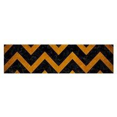 Chevron9 Black Marble & Yellow Grunge (r) Satin Scarf (oblong) by trendistuff