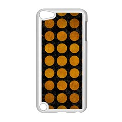 Circles1 Black Marble & Yellow Grunge (r) Apple Ipod Touch 5 Case (white) by trendistuff