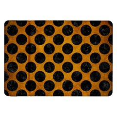 Circles2 Black Marble & Yellow Grunge Samsung Galaxy Tab 8 9  P7300 Flip Case by trendistuff