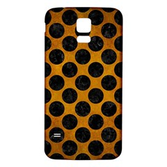 Circles2 Black Marble & Yellow Grunge Samsung Galaxy S5 Back Case (white) by trendistuff
