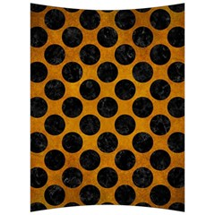 Circles2 Black Marble & Yellow Grunge Back Support Cushion by trendistuff