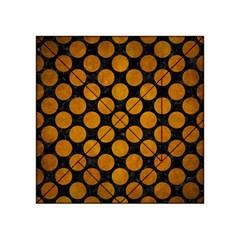 Circles2 Black Marble & Yellow Grunge (r) Acrylic Tangram Puzzle (4  X 4 ) by trendistuff