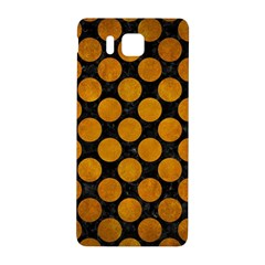 Circles2 Black Marble & Yellow Grunge (r) Samsung Galaxy Alpha Hardshell Back Case by trendistuff