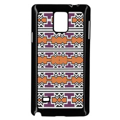 Purple And Brown Shapes                            Samsung Galaxy Note 4 Case (color) by LalyLauraFLM