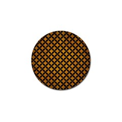 Circles3 Black Marble & Yellow Grunge Golf Ball Marker (10 Pack)