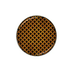 Circles3 Black Marble & Yellow Grunge (r) Hat Clip Ball Marker by trendistuff