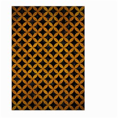 Circles3 Black Marble & Yellow Grunge (r) Large Garden Flag (two Sides) by trendistuff