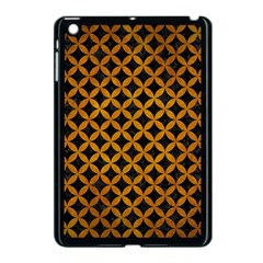 Circles3 Black Marble & Yellow Grunge (r) Apple Ipad Mini Case (black) by trendistuff