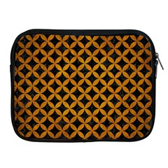 Circles3 Black Marble & Yellow Grunge (r) Apple Ipad 2/3/4 Zipper Cases by trendistuff