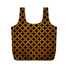 Circles3 Black Marble & Yellow Grunge (r) Full Print Recycle Bags (m)