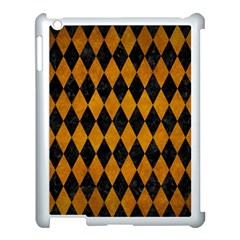 Diamond1 Black Marble & Yellow Grunge Apple Ipad 3/4 Case (white) by trendistuff