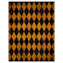 Diamond1 Black Marble & Yellow Grunge Drawstring Bag (large) by trendistuff