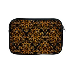 Damask1 Black Marble & Yellow Grunge (r) Apple Ipad Mini Zipper Cases by trendistuff