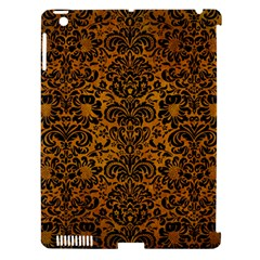 Damask2 Black Marble & Yellow Grunge Apple Ipad 3/4 Hardshell Case (compatible With Smart Cover) by trendistuff