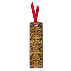 Damask2 Black Marble & Yellow Grunge (r) Small Book Marks by trendistuff