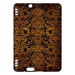 Damask2 Black Marble & Yellow Grunge (r) Kindle Fire Hdx Hardshell Case by trendistuff