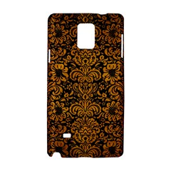 Damask2 Black Marble & Yellow Grunge (r) Samsung Galaxy Note 4 Hardshell Case by trendistuff