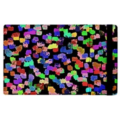 Colorful Paint Strokes On A Black Background                          Kindle Fire (1st Gen) Flip Case by LalyLauraFLM