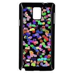 Colorful Paint Strokes On A Black Background                          Samsung Galaxy Note 4 Case (color) by LalyLauraFLM