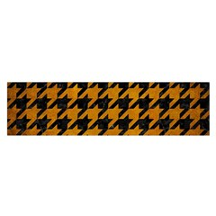 Houndstooth1 Black Marble & Yellow Grunge Satin Scarf (oblong) by trendistuff