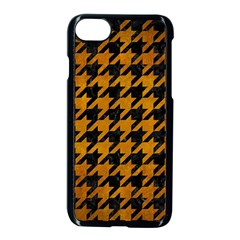 Houndstooth1 Black Marble & Yellow Grunge Apple Iphone 8 Seamless Case (black)