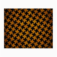 Houndstooth2 Black Marble & Yellow Grunge Small Glasses Cloth (2 Side) by trendistuff