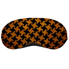 Houndstooth2 Black Marble & Yellow Grunge Sleeping Masks by trendistuff