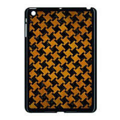 Houndstooth2 Black Marble & Yellow Grunge Apple Ipad Mini Case (black) by trendistuff