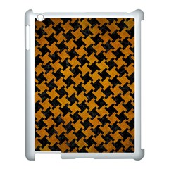 Houndstooth2 Black Marble & Yellow Grunge Apple Ipad 3/4 Case (white) by trendistuff