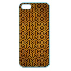Hexagon1 Black Marble & Yellow Grunge Apple Seamless Iphone 5 Case (color)