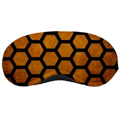 Hexagon2 Black Marble & Yellow Grunge Sleeping Masks by trendistuff