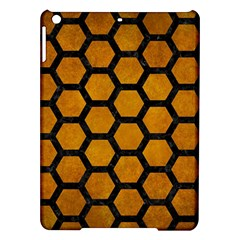 Hexagon2 Black Marble & Yellow Grunge Ipad Air Hardshell Cases by trendistuff